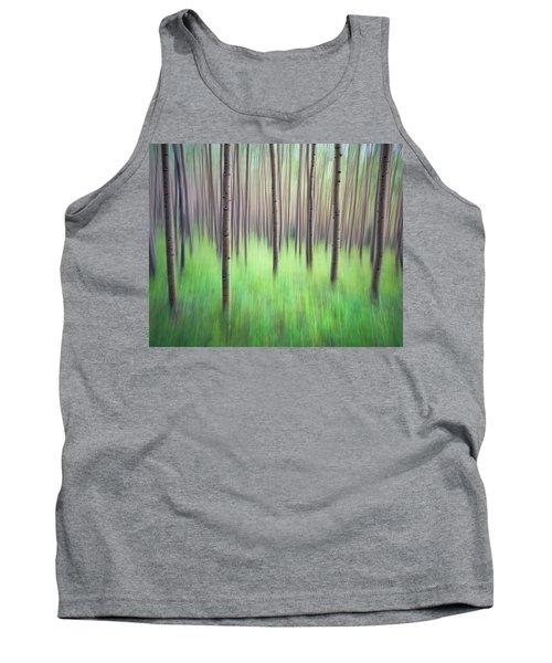 Blurred Aspen Trees Tank Top