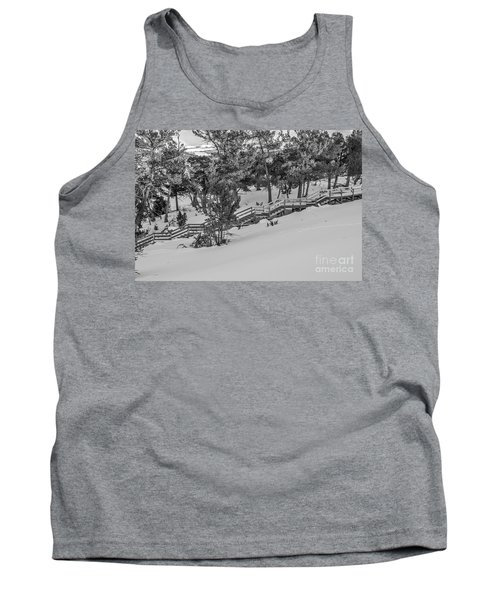 Tank Top featuring the photograph Boardwalk Climbing A Hill by Sue Smith