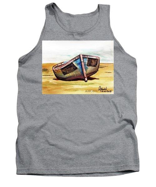 Boat On Beach Tank Top