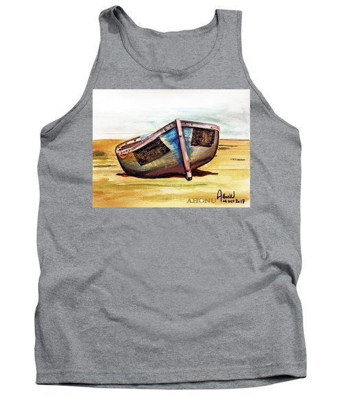 Boat On Beach Tank Top