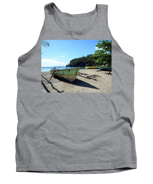 Tank Top featuring the photograph Boats At La Soufriere, St. Lucia by Kurt Van Wagner