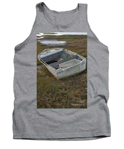 Boats In Ria Formosa Tank Top by Angelo DeVal