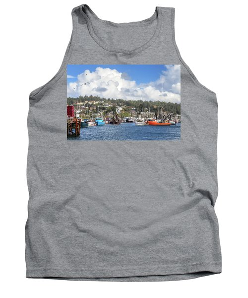 Boats In Yaquina Bay Tank Top by James Eddy
