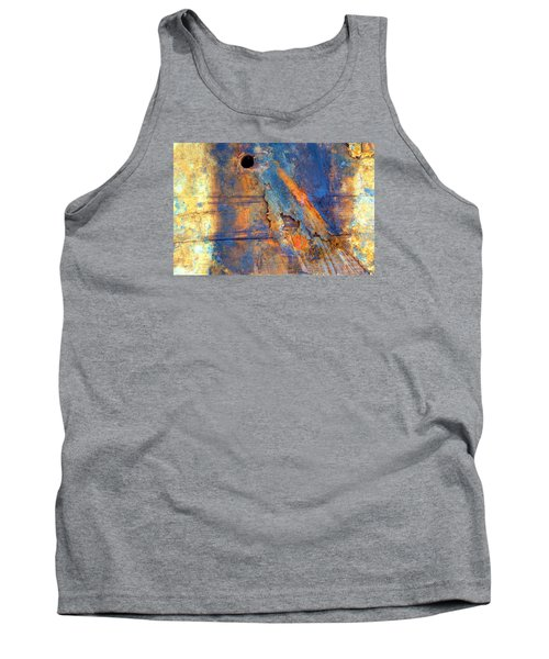 Tank Top featuring the photograph Boatyard Abstract1 by Newel Hunter