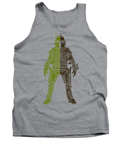 Boba Fett - Star Wars Art, Green 03 Tank Top