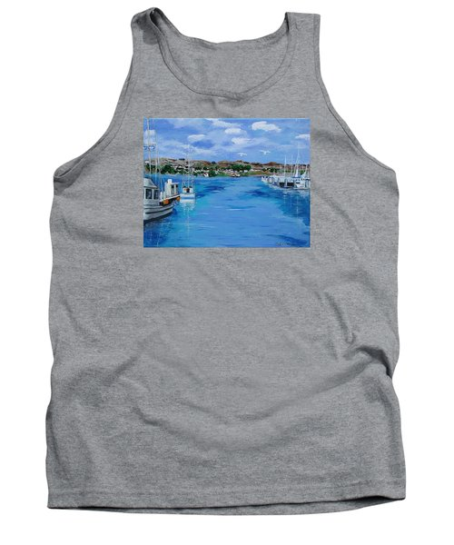 Bodega Bay From Spud Point Marina Tank Top by Mike Caitham