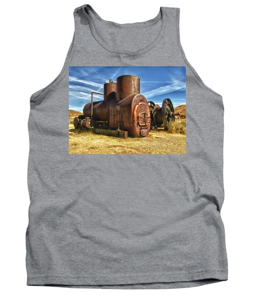 Old Boiler Bodie State Park Tank Top by James Hammond
