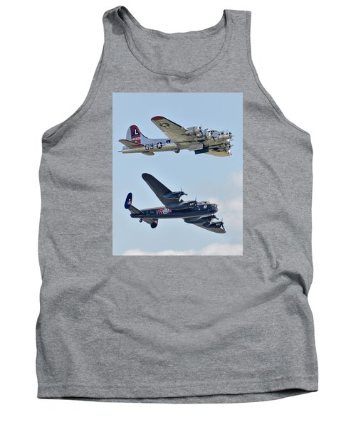 Boeing B-17g Flying Fortress And Avro Lancaster Tank Top by Alan Toepfer