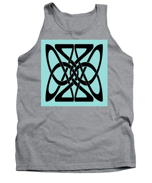 Tank Top featuring the digital art Bold Black Celtic Knot by Jane McIlroy