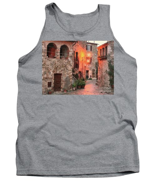 Tank Top featuring the painting Borgo Medievale by Rosario Piazza