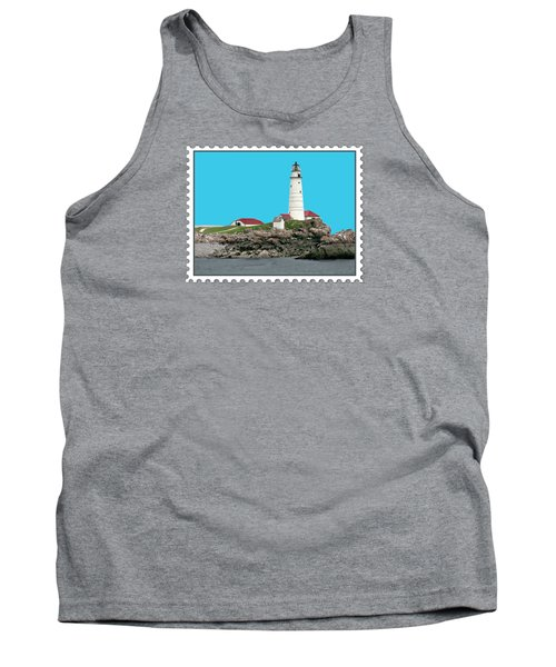 Boston Harbor Lighthouse Tank Top by Elaine Plesser