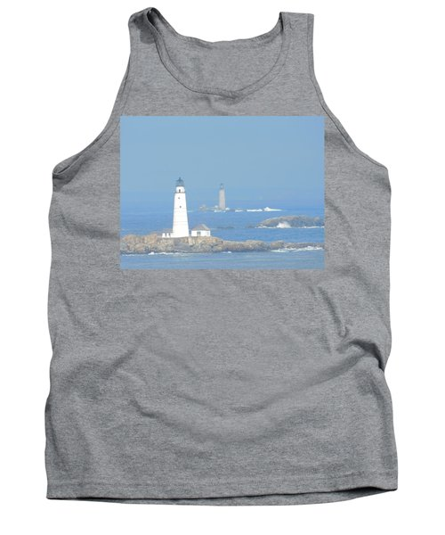 Boston Harbors Lighthouses Tank Top by Catherine Gagne