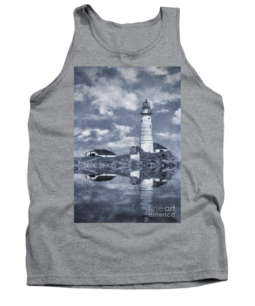 Tank Top featuring the photograph Boston Light  by Ian Mitchell