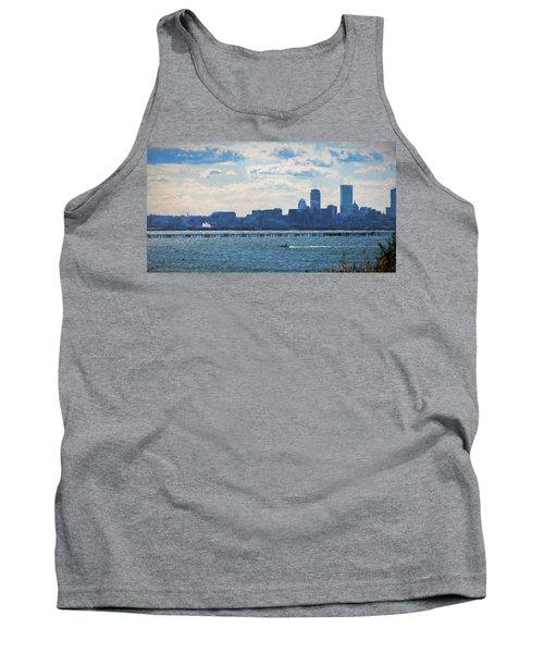 Boston Skyline From Deer Island Tank Top