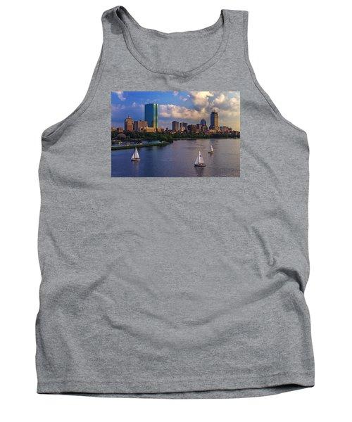 Boston Skyline Tank Top by Rick Berk