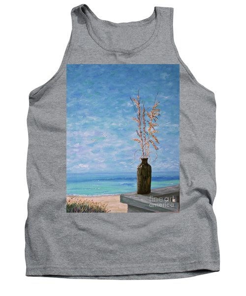 Bottle And Sea Oats Tank Top