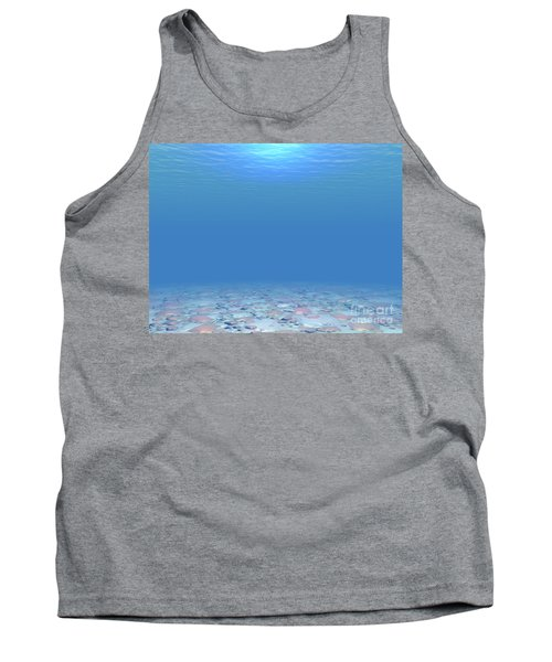 Tank Top featuring the digital art Bottom Of The Sea by Phil Perkins