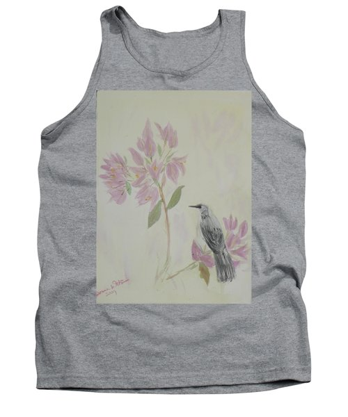 Bougainvillea And Mockingbird Tank Top by Donna Walsh