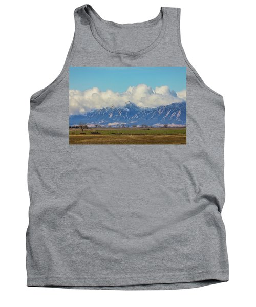 Tank Top featuring the photograph Boulder Colorado Front Range Cloud Pile On by James BO Insogna