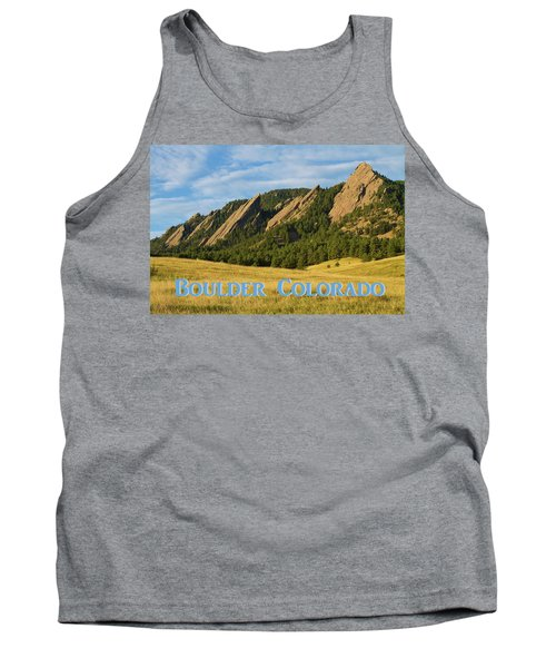 Tank Top featuring the photograph Boulder Colorado Poster 1 by James BO Insogna