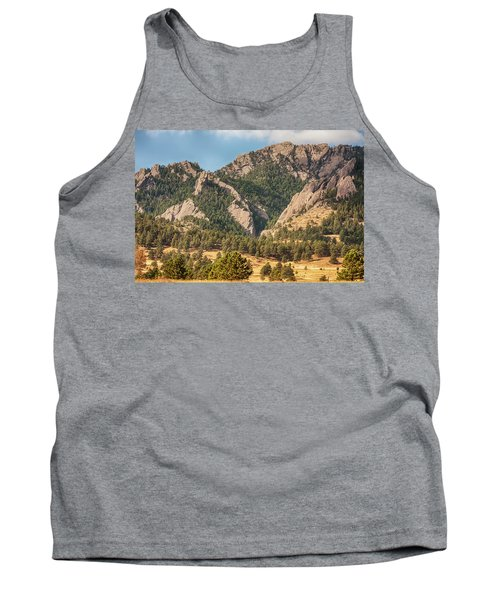 Tank Top featuring the photograph Boulder Colorado Rocky Mountain Foothills by James BO Insogna