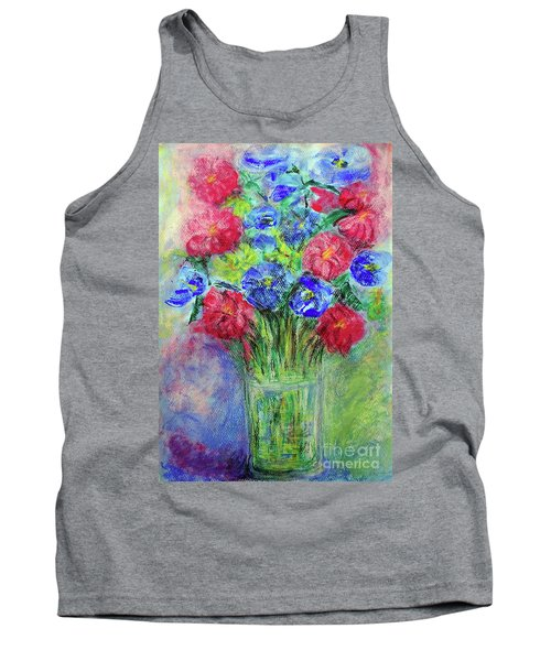 Tank Top featuring the painting Bouquet by Jasna Dragun