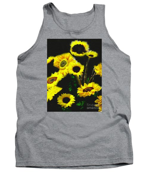 Bouquet Of Sunflowers Tank Top by Merton Allen