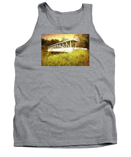 Tank Top featuring the photograph Bowser Covered Bridge by Trina  Ansel