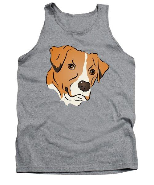 Boxer Mix Dog Graphic Portrait Tank Top