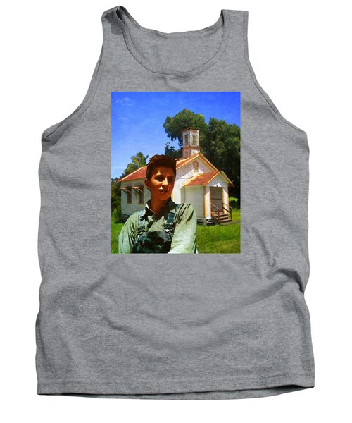 Boy And Church Tank Top by Timothy Bulone