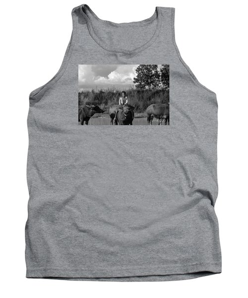 Boy And Cows Tank Top