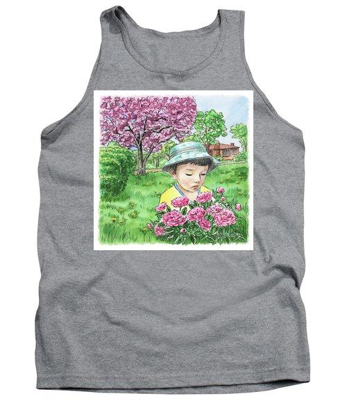 Boy In The Spring Garden Tank Top