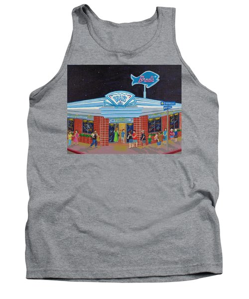 Tank Top featuring the painting Brad's Pismo Beach California by Katherine Young-Beck