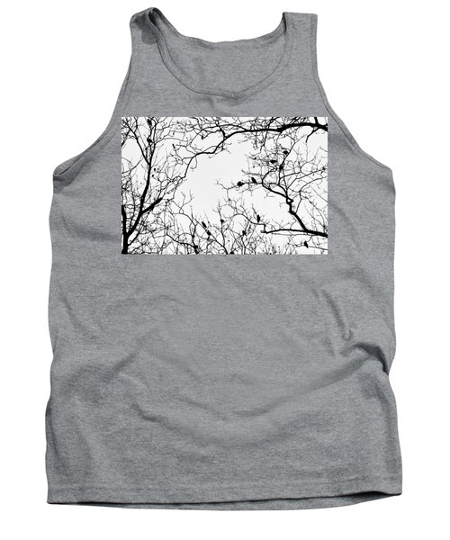 Branches And Birds Tank Top by Sandy Taylor