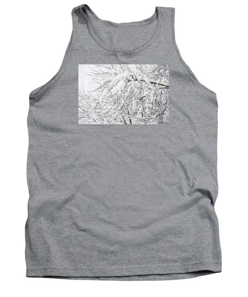 Branches Weighted With Snow Tank Top by Deborah Smolinske