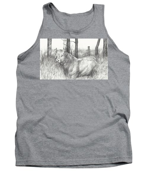 Tank Top featuring the drawing Breaker Study by Meagan  Visser
