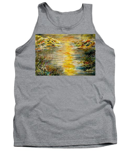 Tank Top featuring the painting New Horizons by Alfred Motzer