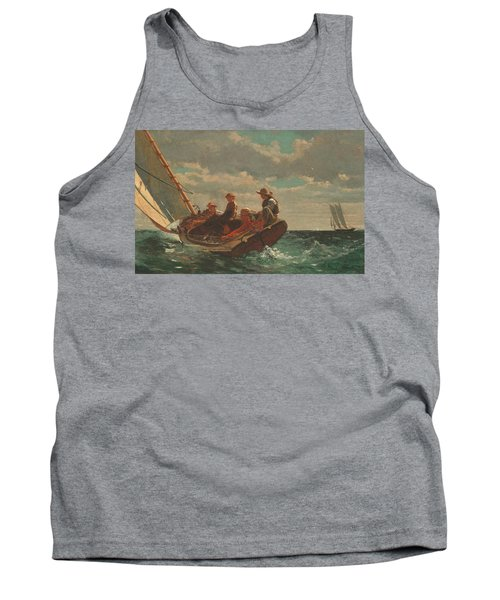 Tank Top featuring the painting Breezing Up A Fair Wind - 1876 by Winslow Homer