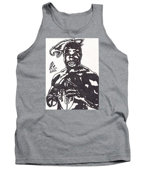 Tank Top featuring the drawing Brian Westbrook by Jeremiah Colley