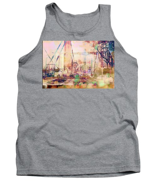 Tank Top featuring the photograph Bridge And Grain Belt Beer Sign by Susan Stone
