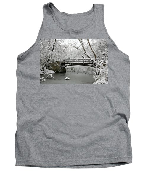 Bridge In Winter Tank Top
