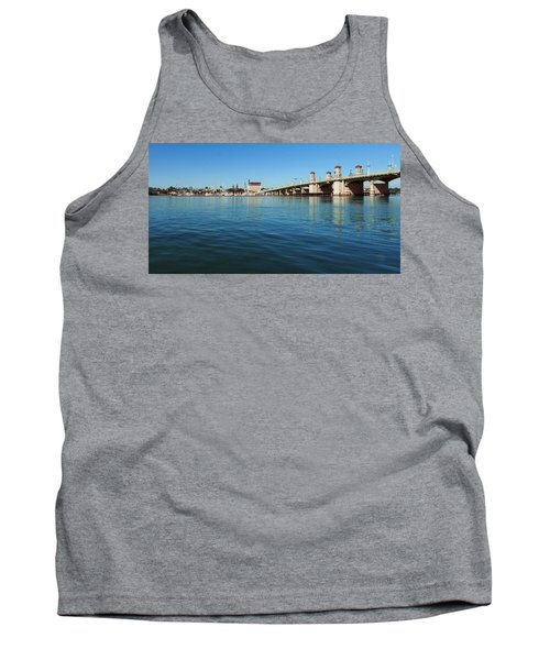 Bridge Of Lions, St. Augustine Tank Top by Rod Seel