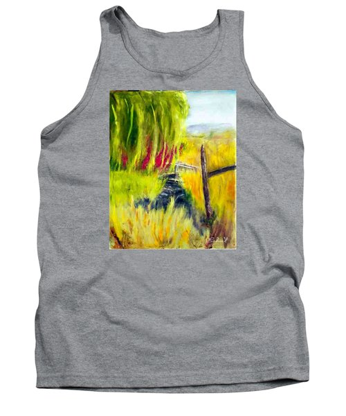 Bridge Over Small Stream Tank Top