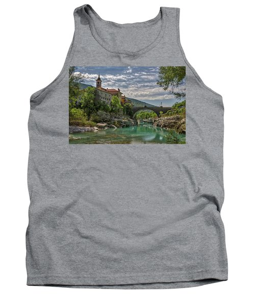Tank Top featuring the photograph Bridge Over The Soca - Kanal Slovenia by Stuart Litoff