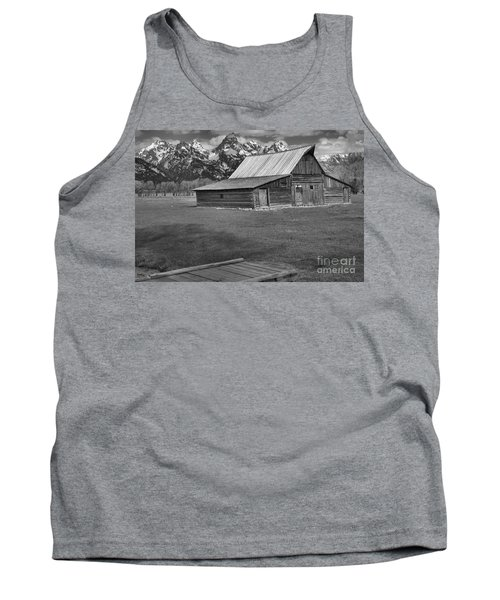 Bridge To The Barn Black And White Tank Top by Adam Jewell
