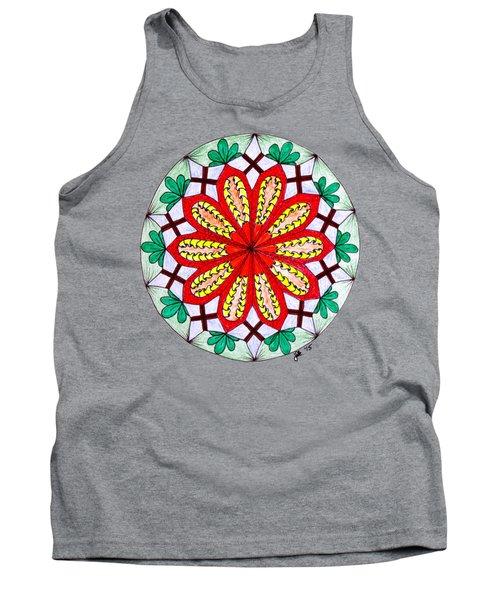 Bright Flower Tank Top by Lori Kingston