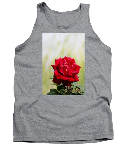 Bright Red Rose Tank Top