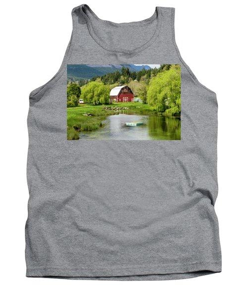 Brinnon Washington Barn By Pond Tank Top