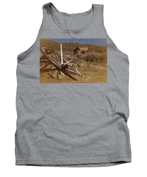 Tank Top featuring the photograph Broken Spokes by Lana Trussell