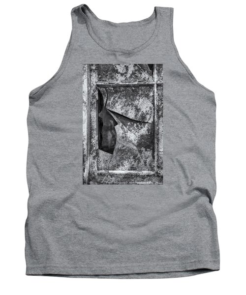 Tank Top featuring the photograph Broken Window by Tom Singleton